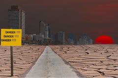 Global warming. Conceptual compositr image Royalty Free Stock Image