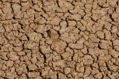Global Warming - Cracked Soil after Long Drought Stock Photo