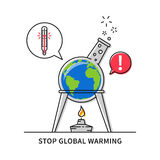 Global warming creative concept Royalty Free Stock Image