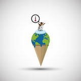 Global warming design. Environment icon.ecology concept Stock Image