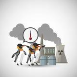 Global warming design. Environment icon.ecology concept Stock Photos