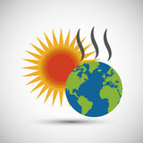 Global warming design. Environment icon.ecology concept Royalty Free Stock Images