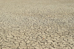 Global warming, Dry land with cracks Stock Photos