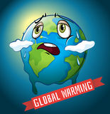 Global warming with earth melting Royalty Free Stock Photography