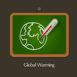 Global warming education Royalty Free Stock Image