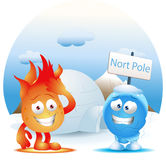 Global warming effect in north pole Royalty Free Stock Photo