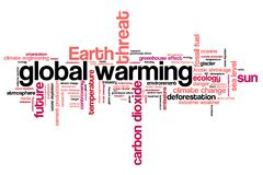 Global warming. Environmental issues and concepts word cloud illustration. Word collage concept Royalty Free Stock Photo