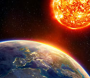 Global warming in Europe Royalty Free Stock Image