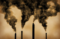 Global Warming Factory Emissions Pollution Stock Photography