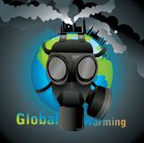 Global warming gas mask  Stock Photography