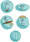 Global Warming Globes Royalty Free Stock Images
