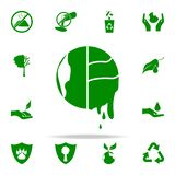 global warming green icon. greenpeace icons universal set for web and mobile vector illustration