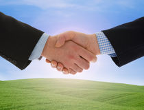Global warming handshake Stock Image
