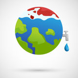 Global warming icon Royalty Free Stock Photography