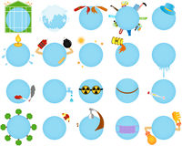 Global Warming Icons Stock Photography