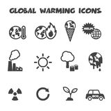 Global warming icons Royalty Free Stock Photo