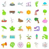 Global warming icons set, cartoon style. Global warming icons set. Cartoon style of 36 global warming vector icons for web isolated on white background Royalty Free Stock Image