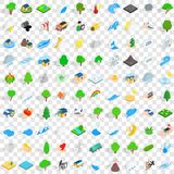 100 global warming icons set, isometric 3d style. 100 global warming icons set in isometric 3d style for any design vector illustration Royalty Free Stock Photo