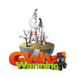 Global warming  illustration Royalty Free Stock Photos