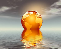 Global warming impact Royalty Free Stock Image