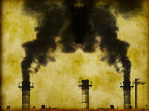 Global Warming / industrial pollution Stock Photo