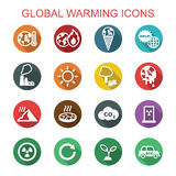 Global warming long shadow icons Stock Photo