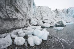 Global warming - melting glaciers Stock Photo