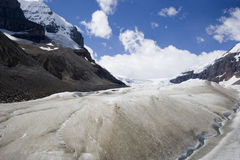 Global warming and melting glaciers in the rockies Royalty Free Stock Photo
