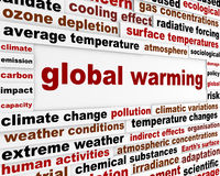 Global warming message concept Stock Photos