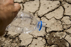 Global warming. New hope in global warming and Water Crisis concept Stock Photos