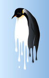 Penguin of global warming period Stock Images