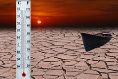 Global warming. Is a periodical natural changing of the climate on our planet Stock Images