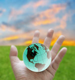 Global warming protection. Change the world concept, Global warming protection Royalty Free Stock Images