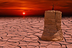 Global warming or Red Heat Stock Images