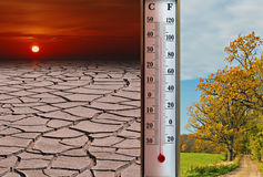 Global warming or Red Heat Royalty Free Stock Photo