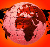 Global Warming Shows Globalise Globalization And World Stock Image