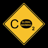 Global warming sign Stock Photography