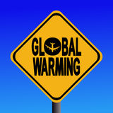 Global Warming Sign Royalty Free Stock Image