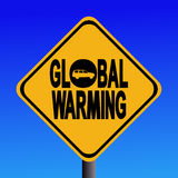 Global warming sign Stock Photos