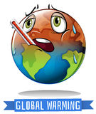 Global warming sign with earth melting Stock Photography