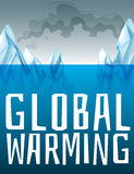 Global warming sign with ice melting Stock Photo