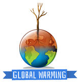 Global warming and sign Royalty Free Stock Photography