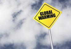 Global warming sign Royalty Free Stock Photography