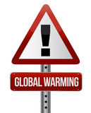 Global warming street sign illustration design Stock Photos