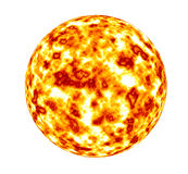 Global Warming sun earth Royalty Free Stock Images
