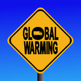 Global warming from truck sign Stock Images