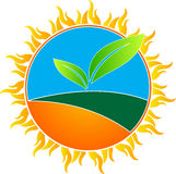 Global warming. A vector drawing represents global warming design Royalty Free Stock Images
