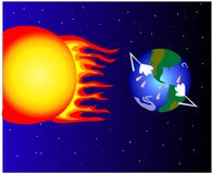 Global warming vector royalty free illustration