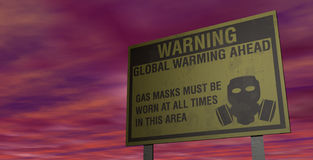 Global warming warning Stock Images