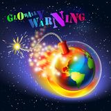 Global warming warning concept stock photography